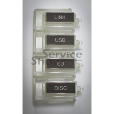 Pioneer CDJ-2000/2000W device select gombsor (LINK, USB, SD, DISC) / DAC2482