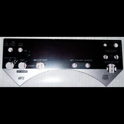 Pioneer CDJ-800 MK2 kijelző plexi lemez ( öntapadós felülettel ) / DAH2418