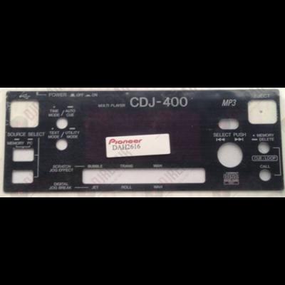 Pioneer CDJ-400 kijelző plexi lemez / DAH2616