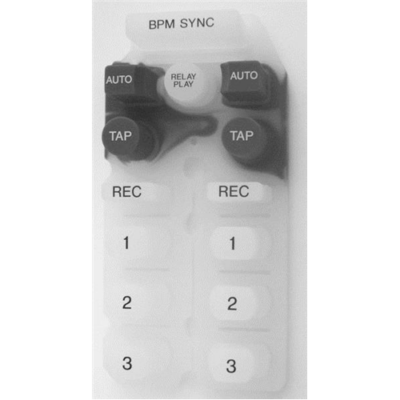 Pioneer CMX-3000 gombsor- középső (BPM Sync, AUTO, TAP, Relay Play, REC, 1, 2, 3) / DEB1505